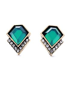 The Loli Bijoux Em Stud Earrings at Bluefly.