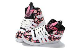 Women's Adidas Originals Mickey Noctilucence Big Tongue Black Pink