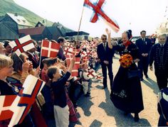 Queen during a visit to the Faroe Islands in 1995.