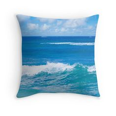 Ocean Pillow Cover Hawaiian pillow cover by EllenSmilePhoto