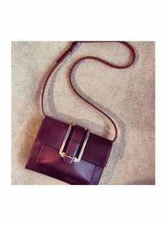 b901804112af Chloe s burgundy crossbody bag is perfect for everyday