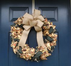 Fall Wreath, Autumn Wreath, Sunflower Wreath, Everyday Wreath, All Occasion Wreath, Cloth Wreath, Fabric Wreath, Front Door Wreaths by HeartfeltHomecoming on Etsy https://www.etsy.com/listing/278655270/fall-wreath-autumn-wreath-sunflower