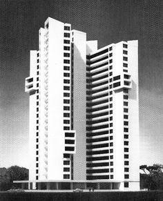 WALTER GROPIUS/THE ARCHITECTS COLLABORATIVE (TAC), HIGH-RISE APARTMENT BLOCK IN BRITZ-BUCKOW-RUDOW, BERLIN, GERMANY