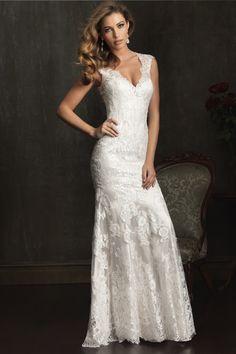 Lace Wedding Gown I Lace Wedding Dress I Allure Bridal (9068) I Available at Brides of Melbourne