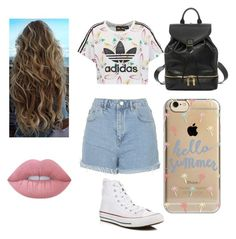 """Untitled #51"" by destinytrendy ❤ liked on Polyvore featuring adidas Originals, Topshop, Converse, Lime Crime, Alexander McQueen and Agent 18"