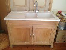 Habitat wood freestanding kitchen sink unit modern farmhouse ...