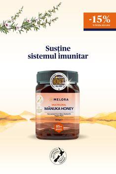 -15% reducere la toată gama de miere de Manuka MELORA, 100% pură și certificată, din Noua Zeelandă. Ofertă în limita stocului. Manuka Honey, Harvest