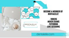 All dental hygiene and dental assisting student members get full access to all recorded sessions this past year in the 'Dentalelle vault' with videos and PDF files on all topics, additional study materials on all aspects of the curriculum, all mock exam packages, live group tutoring sessions with Andrea bimonthly (Sunday's at 9:30am EST), access to the private Facebook group with additional resources and support by other students, and full membership access for FOUR YEARS!