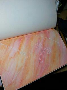 Áries  ** Ilustrações dos signos do Zodíaco   feitas em papel Canson 100g com lápis de cor  aquarelável **  ---》