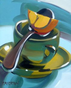 Espresso Cup, by Leigh-Anne Eagerton, painting, via Flickr