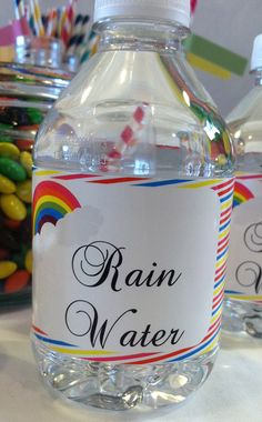 Rainbow Love Birthday Party Baby Shower Water by BellaGreyDesigns, $10.00