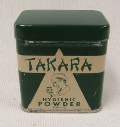 icollect247.com Online Vintage Antiques and Collectables - Takara Hygienic Powder Advertising-Tins