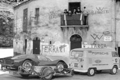 Porsche 906 Transport at the Targa Florio Old Sports Cars, Sports Car Racing, Racing Team, Sport Cars, Porsche 911 Rsr, Classic Sports Cars, Classic Cars, Vintage Racing, Vintage Cars