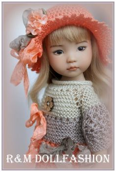 "R&M DOLLFASHION-ROMANTIC LINE outfit OOAK for Effner LITTLE DARLING 13"" doll"