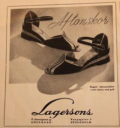 Aftonskor från Lagerssons. Reklam i Bonniers Månadstidning, 1943.