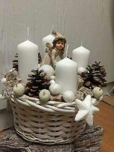 Christmas Advent Wreath, Christmas Candle Decorations, Christmas Candles, Christmas Home, Vintage Christmas, Advent Wreaths, Christmas Mason Jars, Nordic Christmas, Modern Christmas