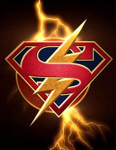 Flash Supergirl crossover logo by ArkhamNatic on DeviantArt Superman Wallpaper, Flash Wallpaper, Supergirl Dc, Supergirl And Flash, Flash And Supergirl Crossover, Hee Man, Superhero Shows, The Flash Grant Gustin, Univers Dc