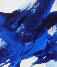 Royal Blue Brush Strokes