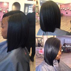 Quick weave Bob    #sewin  #atlweave #atlsilkpress #instahair #hydrationtreatment #hairbytre #weave #microlinks #naturalhair #voiceofhair #silkpress #atlstylist #healthyhair #gochasalonTreana #midtownsalon #atlhair#voiceofhair #vixenweave #clipins #quickweave #atlweave#healthy_hair_journey