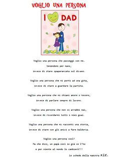 Festa del papà – Percorso didattico A. S. 2014/2015 festa del papà – 2015 Fathers Day, Education, Words, Learning Italian, Art, Culture, Father's Day, Teaching