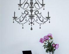 Chandelier Wall Decal Modern - Vinyl Wall Stickers Art Graphics