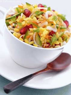 Moong Dal Ki Chaat (100 Calorie Snacks)