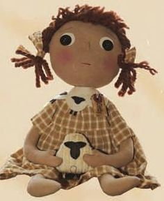 Prim Doll w/ Sheep