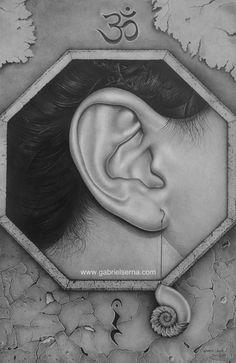 Dibujo a Lápiz - Escucha