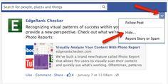 """Na Facebooku patrzymy na liczbę kliknięć """"Lubię to"""", komentarzy czy udostępnień. Coraz więcej z nas z ciekawością obserwuje też zasięg zamieszczanych treści. Ale jest jeszcze jedna ważna statystyka: negatywny feedback.    EdgeRank Checker sprawdził, że przeciętny post jest zgłaszany przez jednego na 333 unikalnych użytkowników. Więcej na http://edgerankchecker.com/blog/2013/01/the-typical-facebook-post-receives-0-03-negative-feedback/"""