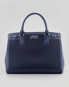 Ferragamo navy purse
