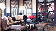 Kourtney Kardashian's home. Love everything about this.. Especially the window treatments.