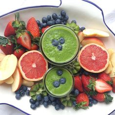 Green Smoothies and Juicy Fruits  Sharing this breakfast platter with my cutie 😊. Green smoothies have romaine, spinach, parsley, celery, 1/2 lemon juice, 1 gala apple and 1 banana. Hope you all have a happy Wednesday! 💚💚💚💚💚💚💚💚💚💚www.mindful-morsels.com  @mindfulmorsels #mindfulmorsels  #wfpb #plantbased #vegan #glutenfree #glutenfreevegan #veganfoodlovers #veganfoodshare #vegansofvancouver #cleaneating #cleaneats #veganfoodlovers #letscookvegan #healthyfood #veganfoodspot…