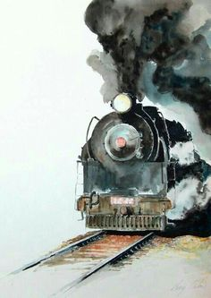 An exceptional watercolor painting.