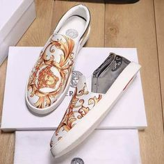 Cheap Versace Loafer Sneaker on sale here. Top quality with favourable wholesale price. Welcome to shop, sandals Store is your best choice. Versace Loafers, Versace Sneakers, Gentleman Shop, Men Dress, Dress Shoes, Best Online Clothing Stores, Fly Shoes, Loafer Sneakers, Italian Shoes