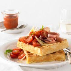 Zucchini, Prosciutto and Parmesan Waffle