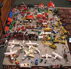 Nice collection!  Classic Lego Town by Shwanseb, via Flickr