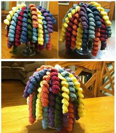 Crochet Curly-Cue Hat/Beanie Child and Adult by SuperWomenCrafts