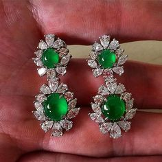 A Highly Translucent Vivid Emerald Green Colour of Natural Burmese Jadeite and Diamond Earrings, signed Fc.  @francis_chiu . . . . . . #rich #richlife #Redcarpet #lux #luxurylife #luxurylifestyle #shanghailife #beijinglife #highlifesociety #hollywoodlife