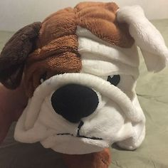 "Ikea Gosig English Bulldog 22""  Puppy Dog Brown White Stuffed Animal Plush Toy"