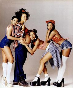 En Vogue, female R+B vocal group. They have won more MTV Video Music Awards than any other female group in MTV history, a total of 7, along with 4 Soul Train Awards, 6 American Music Awards, and 7 Grammy nominations. They are considered one of the most popular and successful female groups of all time. A true class act.