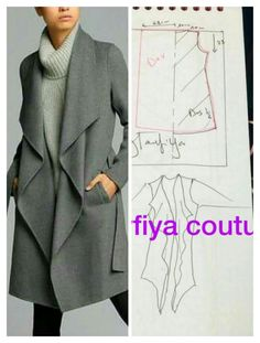 Simple Dresses Pattern Making Sewing Crafts Sewing Projects Diy Crafts Dress Patterns Sewing Patterns T Dress Japanese Books Easy Sewing Patterns, Coat Patterns, Clothing Patterns, Dress Patterns, Sewing Clothes, Diy Clothes, Sleeveless Jacket, Crochet For Boys, Jacket Pattern