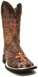 Tony Lama Women's San Saba Tan Navajo Cowboy Boot