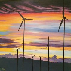 Windfarm 1 Original artwork by Alex Mckell