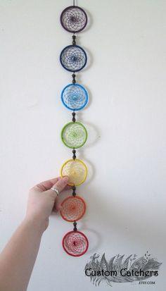 7 Chakra Dreamcatcher Rainbow Dreamcatcher by CustomCatchers