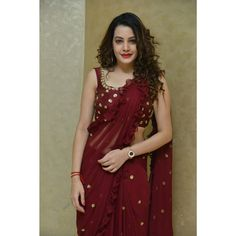 Diksha panth actress sexy cleavage images and largest sexy navel images and hot thunder thighs legs pictures and sexy boobs visible images a. Maroon Saree, Bollywood Dress, Saree Dress, Saree Blouse, Red Mini Skirt, Elegant Saree, Latest Sarees, Tamil Actress Photos, Curvy Fashion