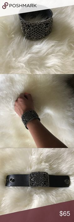 HANDMADE LEATHER BRACELET Handmade leather cuff bracelet! Jewelry Bracelets