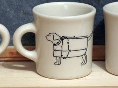 dog in a coat by roughandperfect on Etsy, $20.00  I absolutely LOVE this!
