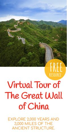 Great Wall of China Travel Guide & Tours Virtual Museum Tours, Virtual Tour, Great Wall Of China, China Wall, China China, China Travel Guide, Space Tourism, 6th Grade Social Studies, Virtual Field Trips