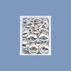 Silver Plain Saucer Beads - 4mm beads.co.uk