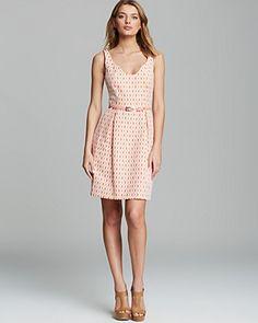 Trina Turk Dress - Solange Crescent Jacquard Belted | Bloomingdale's